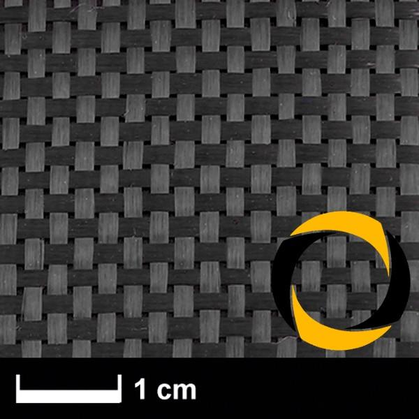 Kohlegewebe 160 g/m² (LW, gespreizt) 100 cm,